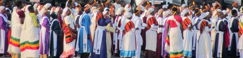 Meskel celebration priests